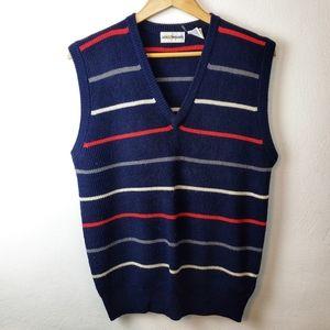 Vintage Jack Nicklaus Blue Striped Sweater Vest Lg